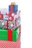 Pilha de presentes de Natal Foto de Stock Royalty Free