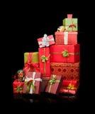 Pilha de presentes de Natal Fotografia de Stock Royalty Free