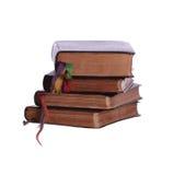 Pilha de quatro livros envelhecidos Fotografia de Stock Royalty Free