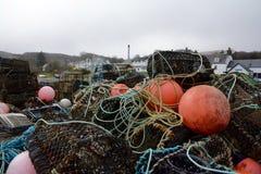Pilha de redes de pesca Imagens de Stock