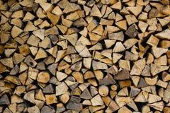 Pilha de registros da lenha Foto de Stock