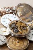 Pilha de relógios Fotografia de Stock Royalty Free