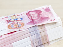 Pilha de renminbi (yuan chinês) Imagens de Stock Royalty Free