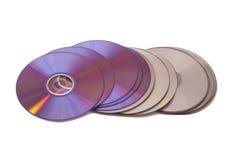 Pilha de ROM do CD Disco do CD & do DVD Fotografia de Stock