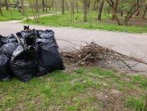Pilha de sacos de lixo Imagem de Stock Royalty Free