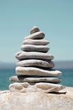 Pilha de seixos do mar Imagem de Stock