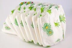 Pilha de tecidos isolados Foto de Stock