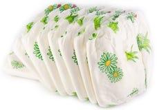 Pilha de tecidos isolados Foto de Stock Royalty Free
