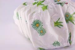 Pilha de tecidos isolados Imagem de Stock