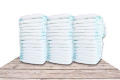Pilha de tecidos isolados no fundo branco Imagens de Stock Royalty Free