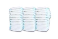Pilha de tecidos isolados no fundo branco Imagem de Stock Royalty Free