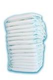 Pilha de tecidos isolados no fundo branco Fotografia de Stock