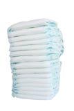 Pilha de tecidos isolados no fundo branco Foto de Stock