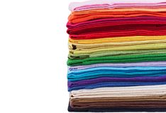 Pilha de tela de linho colorido Imagem de Stock