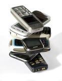 Pilha de telefones de pilha Fotografia de Stock