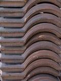 Pilha de telhas de telhado portuguesas Fotos de Stock