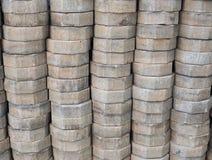 Pilha de tijolo imagens de stock