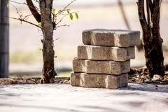Pilha de tijolos Fotografia de Stock Royalty Free