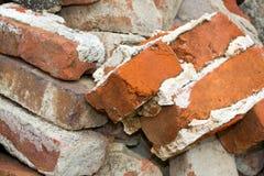 Pilha de tijolos velhos Foto de Stock Royalty Free