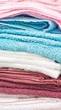 Pilha de toalhas Fotografia de Stock