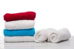 Pilha de toalhas Fotos de Stock