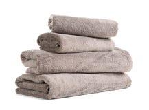 Pilha de toalhas frescas foto de stock royalty free