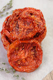 Pilha de tomates secados Fotografia de Stock