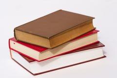 Pilha de três livros imagem de stock