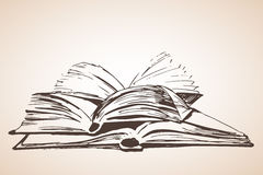 Pilha de três livros abertos Fotos de Stock