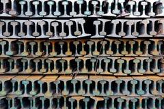 A pilha de trilhos novos Foto de Stock