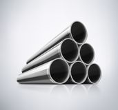 Pilha de tubulações do metal Fotografia de Stock Royalty Free