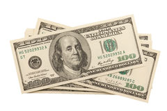 Pilha de uma hudnred notas de banco do dólar Fotos de Stock