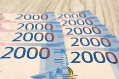 Pilha de vária de contas de dinheiro israelitas do shekel - vista superior imagens de stock