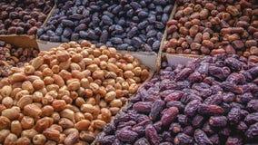 Pilha de vários frutos secos foto de stock
