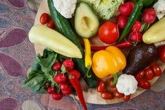 Pilha de vegetais orgânicos imagens de stock royalty free