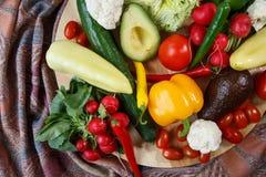 Pilha de vegetais orgânicos fotos de stock royalty free