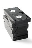 Pilha de VHS Cassetes Fotos de Stock Royalty Free