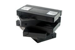 Pilha de video tapes velhos imagens de stock royalty free