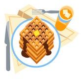 Pilha de waffles Foto de Stock Royalty Free