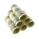 Pilha do armazenamento do dinheiro Imagens de Stock Royalty Free