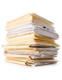 Pilha do arquivo Imagem de Stock