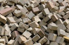 Pilha do bloco da destruição Fotos de Stock