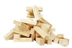 Pilha do bloco de madeira Fotos de Stock