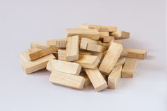 Pilha do bloco de madeira Foto de Stock Royalty Free