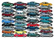 Pilha do carro Fotografia de Stock Royalty Free