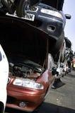 Pilha do carro da sucata fotografia de stock