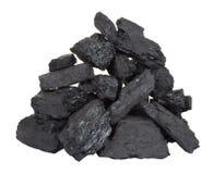 Pilha do carvão imagem de stock