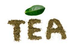 Pilha do chá verde Imagem de Stock