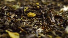 Pilha do chá verde do jasmim Tiro macro da zorra filme