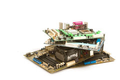 Pilha do computador do mainboard, lixo eletrônico Fotos de Stock